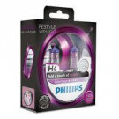 Pack 2 lámparas Philips H4 12V 60/55W Color Vision Morado