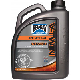 Aceite Bel-Ray 4T V Twin V-Twin Mineral 20W50 4L