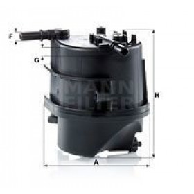 Filtro combustible MANN-FILTER WK939