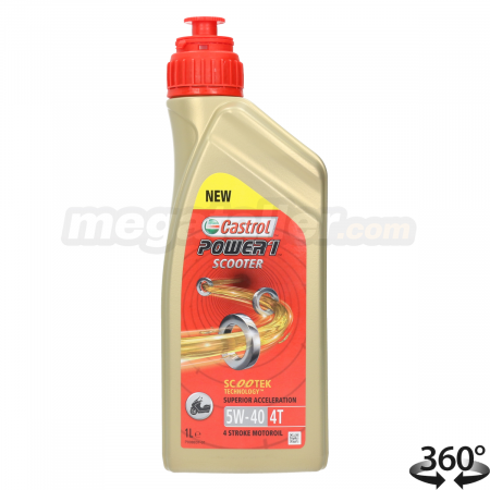 Aceite Castrol Power 1 Scooter 4T 5W40 1L
